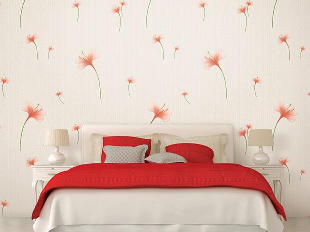 Mẫu giấy dán tường cho không gian phòng ngủ