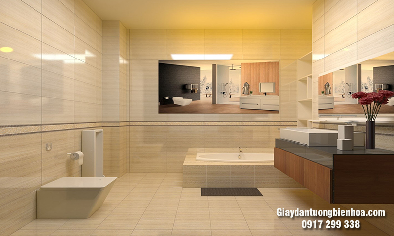 Tấm nhựa ốp tường nhà tắm đẹp, sang trọng với giá rẻ