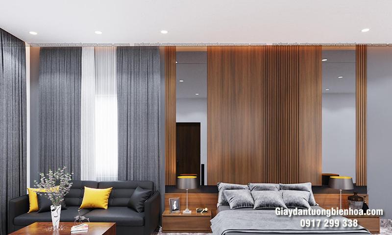 Làm đẹp không gian với tấm nhựa ốp tường phòng khách