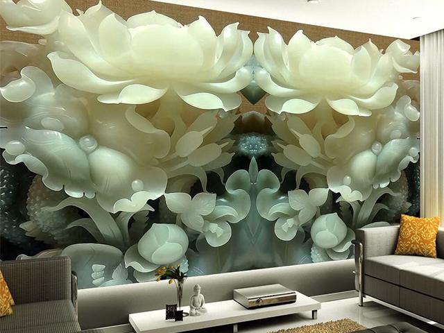 Tranh dán tường 3D phong thủy dành cho phòng khách