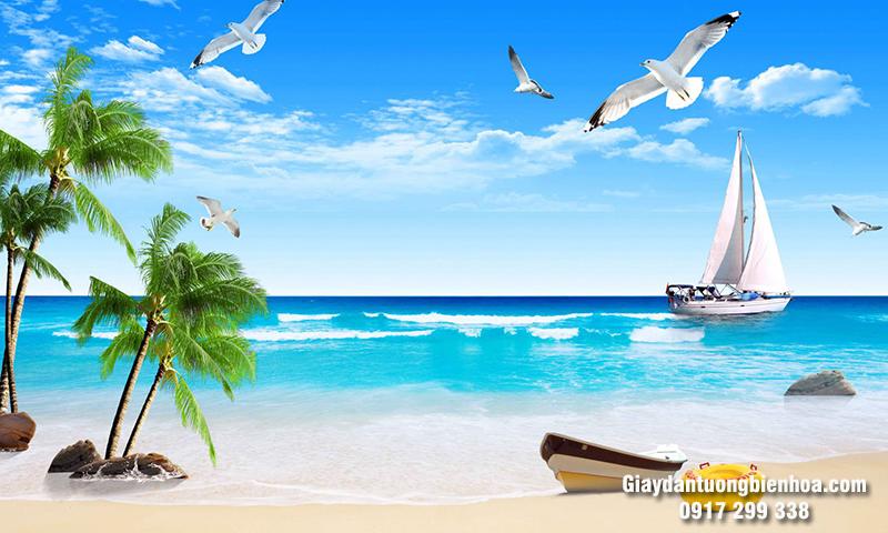 Mẫu tranh dán tường 3D phong cảnh biển được ưa chuộng nhất