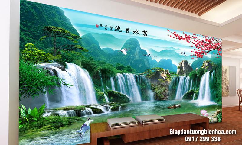 Chọn tranh dán tường 3d sơn thủy chất lượng