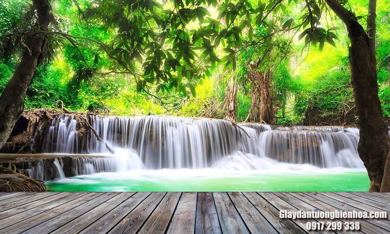 tranh dán tường 3D thác nước đẹp tại Biên Hòa