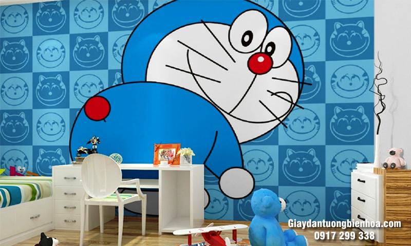 Tranh dán tường 3D Doremon đẹp cho bé yêu